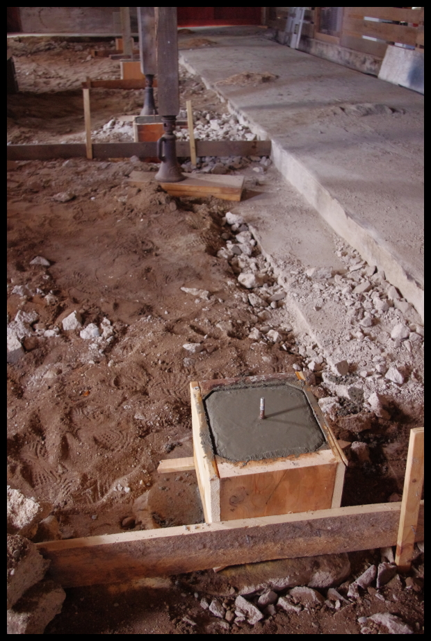 how to add a concrete footing on concrete